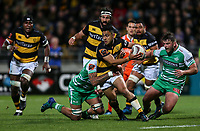 Stephen Perofeta of taranaki during the Mitre 10 Cup Ranfurly Shield Rugby Match between Taranaki and Manawatu at Yarrow Stadium, New Plymouth, Auckland,  New Zealand. Wednesday 11th October 2017. Photo: Simon Watts / www.bwmedia.co.nz