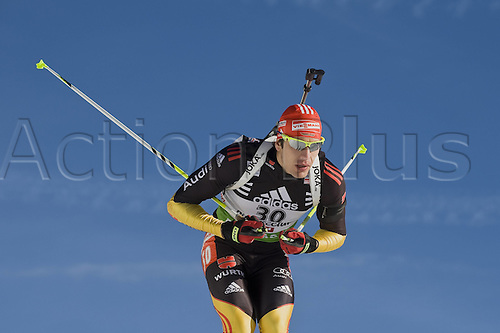 09.12.2011, Hochfilzen, Austria. The IBU Biathlon men's 10km Sprint, picture shows  Arnd Peiffer