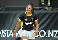 Wellington Women's Dhys Faleafaga on day two of the 2018 Bayleys National Sevens at Rotorua International Stadium in Rotorua, New Zealand on Sunday, 14 January 2018. Photo: Dave Lintott / lintottphoto.co.nz