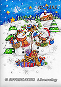 Interlitho-Theresa, CHRISTMAS SANTA, SNOWMAN, WEIHNACHTSMÄNNER, SCHNEEMÄNNER, PAPÁ NOEL, MUÑECOS DE NIEVE, paintings+++++,2 santas,KL6102,#x#