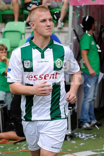 GRONINGEN - Voetbal, FC Groningen - Aston Villa, voorbereiding seizoen 2014-2015, 02-08-2014,  FC Groningen speler Martijn van der Laan