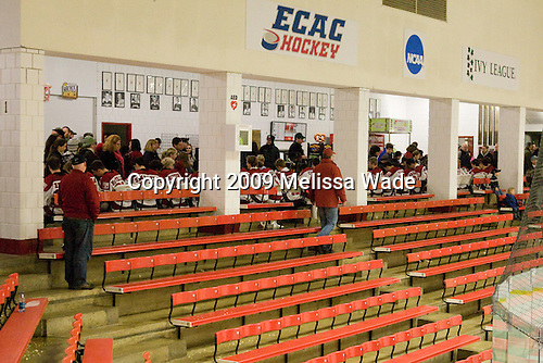 The Crimson sign autographs following the game. - The Harvard University Crimson defeated the Dartmouth College Big Green 4-1 (EN) on Monday, January 18, 2010, at Bright Hockey Center in Cambridge, Massachusetts.