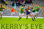 Declan O'Sullivan and Padraig O'Sullivan South Kerry in Action against Killian Spillane Kenmare in the County Senior Football Semi Final at Fitzgerald Stadium Killarney on Sunday.