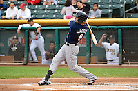 Mike Jacobs (6) of the Reno Aces at bat against the Salt Lake Bees at Smith's Ballpark on May 5, 2014 in Salt Lake City, Utah.  (Stephen Smith/Four Seam Images)