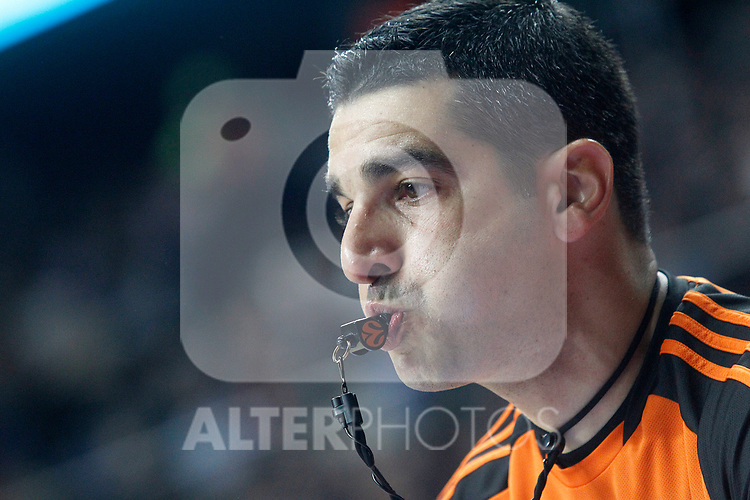 Referee during Euroleague, Regular Season, Round 29 match. March 31, 2017. (ALTERPHOTOS/Acero)