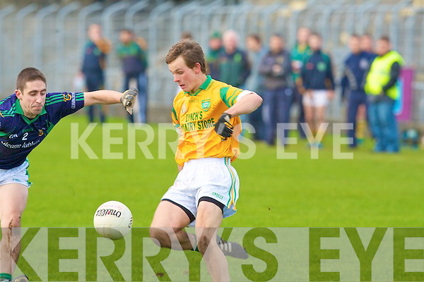 Castlegregory's Ryan Kelliher and Glanworth's Terence Ryan.