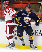 Matt McCollem (Harvard - 23), Cory Hibbeler (Quinnipiac - 6) - The visiting Quinnipiac University Bobcats defeated the Harvard University Crimson 3-1 on Wednesday, December 8, 2010, at Bright Hockey Center in Cambridge, Massachusetts.