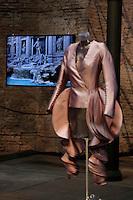 Maurizio Galante<br /> Roma 03-04-2016 Terme di Diocleziano. Mostra 'In Acqua: H2O molecole di creativita'. Decine di stilisti hanno creato, per l'occasione, abiti, accessori e gioielli che richiamano l'acqua.<br /> Diocleziano Thermae. Exhibition 'In water: H2O molecules of creativity'.Tens of famous stylists created dresses, accessories and jewels that recall water.<br /> Photo Samantha Zucchi Insidefoto