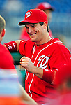 6 June 2009: Washington Nationals' outfielder Josh Willingham awaits the start of play in the dugout prior to a game against the New York Mets at Nationals Park in Washington, DC. The Nationals defeated the Mets 7-1, marking pitcher John Lannan's first complete game of his career. Mandatory Credit: Ed Wolfstein Photo