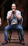"""Lin-Manuel Miranda makes a surprise appearance during a Q & A before The Rockefeller Foundation and The Gilder Lehrman Institute of American History sponsored High School student #EduHam matinee performance of """"Hamilton"""" at the Richard Rodgers Theatre on 3/20/2019 in New York City."""