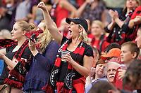 Portland, Oregon - Wednesday June 22, 2016: Thorns fans during a regular season National Women's Soccer League (NWSL) match at Providence Park.