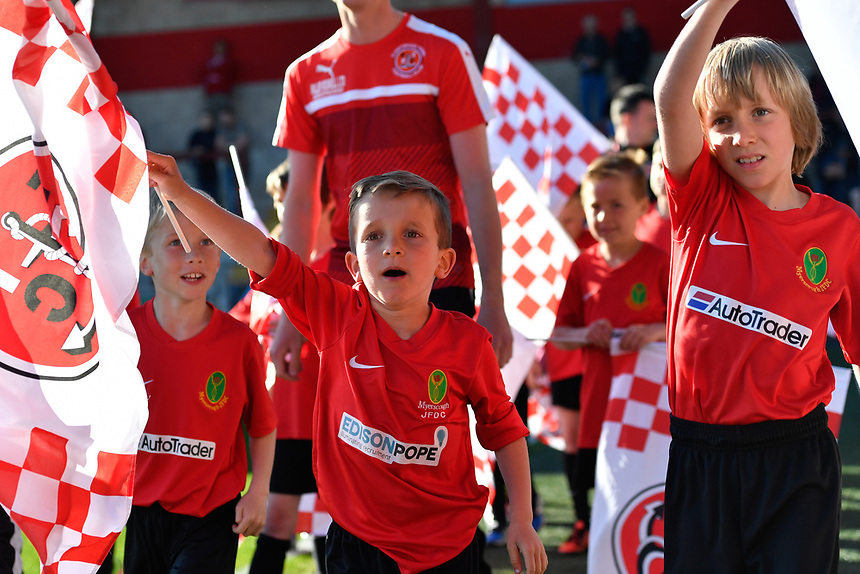 Mascots at Fleetwood Town<br /> <br /> Photographer Terry Donnelly/CameraSport<br /> <br /> The EFL Sky Bet League One Play-Off Second Leg - Fleetwood Town v Bradford City - Sunday 7th May 2017 - Highbury Stadium - Fleetwood<br /> <br /> World Copyright &copy; 2017 CameraSport. All rights reserved. 43 Linden Ave. Countesthorpe. Leicester. England. LE8 5PG - Tel: +44 (0) 116 277 4147 - admin@camerasport.com - www.camerasport.com