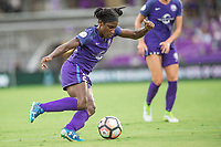 Orlando, FL - Saturday July 01, 2017: Jasmyne Spencer during a regular season National Women's Soccer League (NWSL) match between the Orlando Pride and the Chicago Red Stars at Orlando City Stadium.