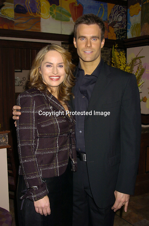 Crystal Chappell and Cameron Mathison ..at The Announcements of the 32nd Annual Daytime Emmy ..Award's Nominations on March 2, 2005 at Guiding Light Stages in New York City...Photo by Robin Platzer, Twin Images