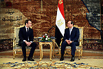 Egypt's President Abdel Fattah al-Sisi meets with French President Emmanuel Macron at the presidential palace Cairo, Egypt, January 28, 2019. Photo by Egyptian President Office \ apaimages