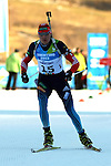 Sergei Kliachin (RUS) competes during the Men 12.5 km pursuit Biathlon race as part of the Winter Universiade Trentino 2013 on 16/12/2013 in Lago Di Tesero, Italy.<br /> <br /> &copy; Pierre Teyssot - www.pierreteyssot.com