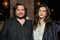 """NEW YORK - MARCH 19: (L-R) Matt Berry and Iraina MacCormack attend the party at the Bowery Hotel Terrace following the premiere for FX Networks """"What We Do In The Shadows"""" on March 19, 2019 in New York City. (Photo by Anthony Behar/FX/PictureGroup)"""