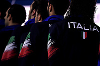Team Italy   <br /> Budapest 26/01/2020 Duna Arena <br /> ITALY (white caps) Vs. SERBIA (blue caps) Men <br /> Final 5th - 6th place <br /> XXXIV LEN European Water Polo Championships 2020<br /> Photo  © Andrea Staccioli / Deepbluemedia / Insidefoto