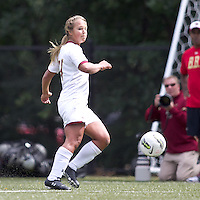 Boston College forward/midfielder Rachel Davitt (24) passes the ball. Boston College defeated University of Virginia, 2-0, at the Newton Soccer Field, on September 18, 2011.