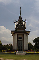Cambodia - 2007 File Photo -<br /> A commemorative stupa filled with the skulls of the victims at<br /> Cambodia, Killing fields, Choeung Ek. memorial site. <br /> <br /> were a number of sites in Cambodia where large numbers of people were killed and buried by the Communist regime Khmer Rouge, which had ruled the country since 1975. The massacres ended in 1979, when Communist Vietnam invaded the country, which at that time was officially called Democratic Kampuchea, and toppled the Khmer Rouge regime. Estimates of the number of dead range from 1.7 to 2.3 million out of a population of around 7 million.<br /> <br /> <br /> photo : James Wong-  Images Distribution