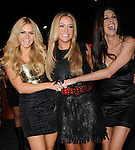 Aubrey O'Day and cast mates at The Hard Rock Cafe Hollywood's grand opening party in Hollywood, California on October 21,2010                                                                               © 2010 Hollywood Press Agency