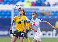 Frisco, TX - October 17, 2018:  Jamaica defeated Panama on penalty kicks after a 2-2 draw in regulation time during the third place game of the 2018 CONCACAF Women's Championship.