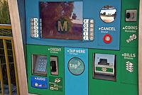 Metro Orange Line, Rapid Transit, Bus line, Ticket Machine,  San Fernando Valley, Los Angeles, CA, Los Angeles County,  MTA, Metropolitan Transportation Authority