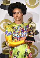LOS ANGELES - JANUARY 26: Esperanza Spalding with the award for Jazz Vocal Album at the 62nd Annual Grammy Awards at Staples Center on January 26, 2020 in Los Angeles, California. (Photo by Frank Micelotta/PictureGroup)