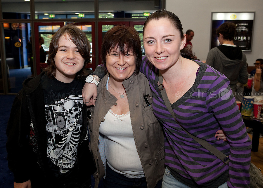 15/7/2011. Jake and Lisa Nangle with Sharon Mc Manus are pictured at the opening of UCI Stillorgan. Picture Collins Photo Agency.