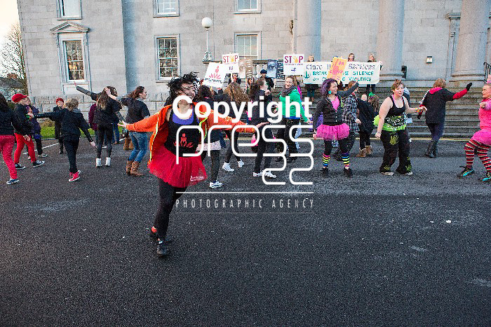The March for Violence against Women that took place from  Ennis Court Houst to the Queens Hotel.. Pictured Credit  Brian Gavin Press 22