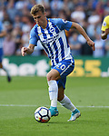 Solly March of Brighton & Hove Albion during the premier league match at the Vicarage Road Stadium, Watford. Picture date 26th August 2017. Picture credit should read: Robin Parker/Sportimage