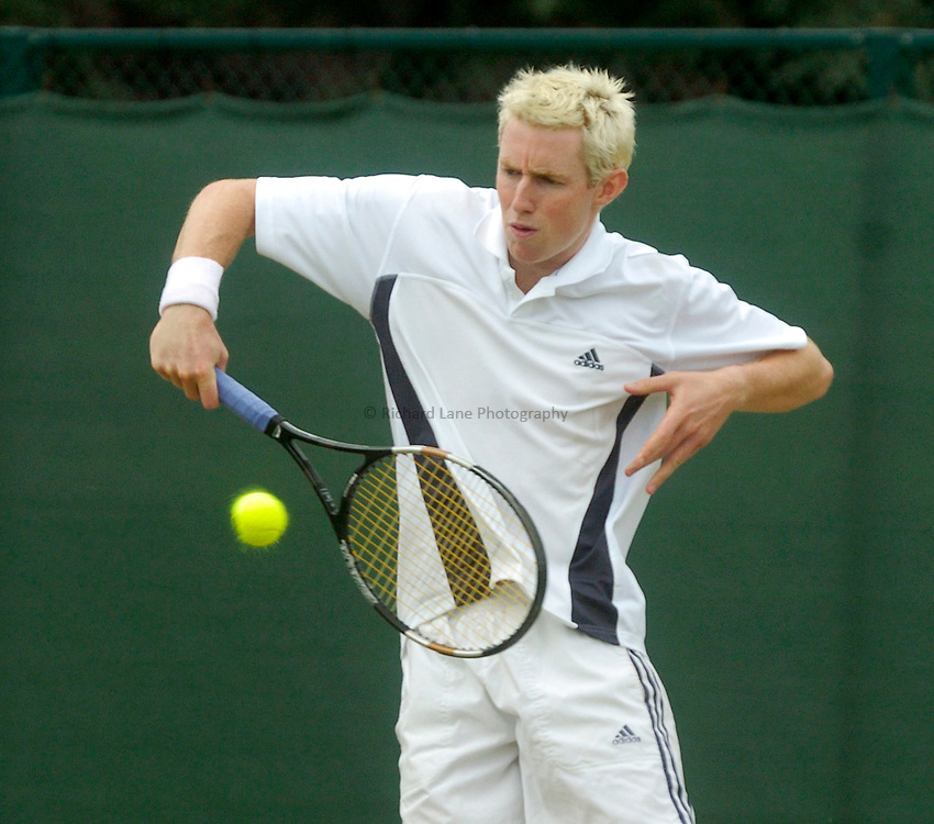 Photo. Glyn Thomas. .Nottingham Open Tennis, day 2..15/06/2004..Jonathan Marray on his way to a first round win over Wayne Arthurs.
