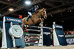 Julien Epaillard of France riding Pigmalion du Rozel competes at the Longines Speed Challenge during the Longines Hong Kong Masters 2015 at the AsiaWorld Expo on 13 February 2015 in Hong Kong, China. Photo by Juan Flor / Power Sport Images