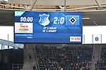 14.04.2018, wirsol-Rhein-Neckar-Arena, Sinsheim, GER, 1. FBL, TSG 1899 Hoffenheim vs Hamburger SV, im Bild Endstand / Endergebnis / Anzeigetafel / Feature<br /> <br /> Foto &copy; nordphoto / Fabisch