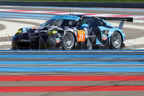 28.03.2015.  Le Castellet, France. World Endurance Championship Prologue Day 2. Dempsey-Proton Racing Porsche 911 RSR driven by Patrick Long and Marco Seefried.
