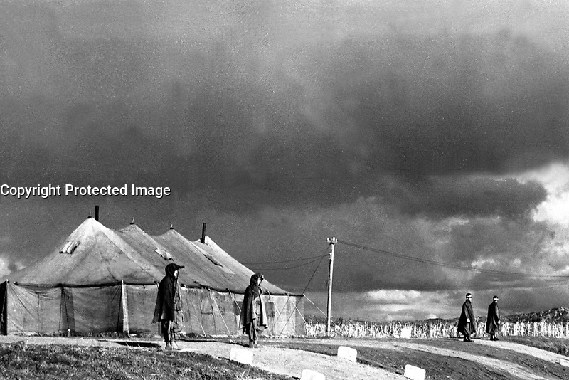 Panmunjom, Korea, the site of military armistice negotiations between representatives of the Communist forces fighting in Korea, and United Nations forces representatives.  November 1, 1951.  Capt. Edward W. Plummer.  (Army)<br /> NARA FILE #:  111-SC-383310<br /> WAR &amp; CONFLICT BOOK #:  1515