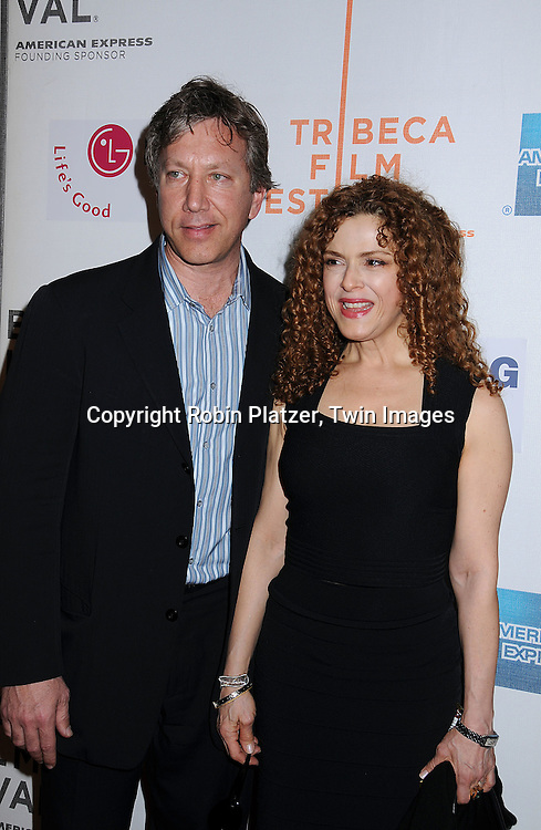 """actress Bernadette Peters and boyfriend Rich Lindy..posing for photographers at The 2008 Tribeca Film Festival's screening of """" """"I Am Because We Are"""", which is ..executive produced by Madonna, on April 24, 2008 at BMCC/TPAC. ..Robin Platzer, Twin Images"""