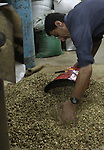 A Palestinian man makes coffe a factory in the West Bank city of Nablus on June 17, 2012. Nablus is famous of manufacturing several different types of spices. Photo by Nedal Eshtayah