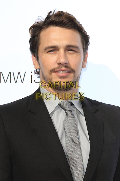 James Franco<br /> BMW i3 Global Reveal &amp; Party, Old Billingsgate, Old Billingsgate Walk, London, England.<br /> 29th July 2013<br /> headshot portrait black suit jacket grey gray tie shirt goatee beard facial hair<br /> CAP/ROS<br /> &copy;Steve Ross/Capital Pictures