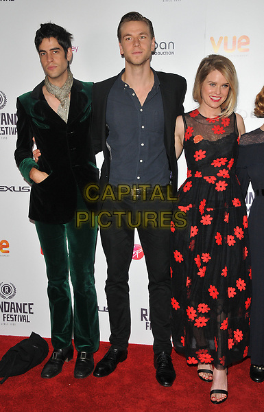 Thomas Cohen, Wilf Scolding and Alice Eve at the &quot;Bees Make Honey&quot; Raindance Film Festival UK film premiere, Vue West End cinema, Leicester Square, London, England, UK, on Saturday 23 September 2017.<br /> CAP/CAN<br /> &copy;CAN/Capital Pictures