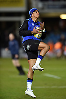 Anthony Watson of Bath Rugby in action during the pre-match warm-up. Aviva Premiership match, between Bath Rugby and Wasps on December 29, 2017 at the Recreation Ground in Bath, England. Photo by: Patrick Khachfe / Onside Images