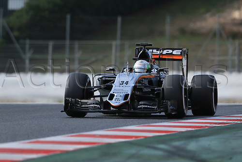 25.02.2016. Circuit de Catalunya, Barcelona, Spain. Day 4 of the Spring F1 testing and new car unvieling for 2016-17 season.  Sahara Force India VJM09 - Alfonso Celis