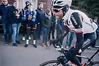 Laurens ten Dam (NED/Sunweb) chasing back into the peleton<br /> <br /> Omloop Het Nieuwsblad 2018<br /> Gent › Meerbeke: 196km (BELGIUM)