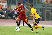 12th September 2017, Stadio Olimpic, Rome, Italy; UEFA Champions League between AS Roma versus Club Atletico de Madrid  Bruno Peres gets past Koke ; the game ended on a 0-0 draw