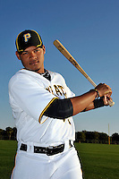 Feb 28, 2010; Bradenton, FL, USA; Pittsburgh Pirates  infielder Argenis Diaz (73) during  photoday at Pirate City. Mandatory Credit: Tomasso De Rosa/ Four Seam Images