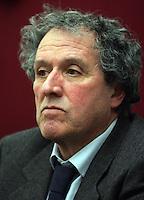 Il capolista dell'Italia dei Valori in Toscana Francesco Pardi durante la conferenza stampa a Roma, 7 marzo 2008..UPDATE IMAGES PRESS/Riccardo De Luca.