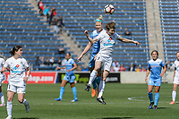 Bridgeview, IL - Saturday April 22, 2017: Julie Ertz, Becca Moros during a regular season National Women's Soccer League (NWSL) match between the Chicago Red Stars and FC Kansas City at Toyota Park.