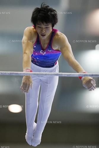 Junpei Oka, JULY 6, 2014 - Artistic Gymnastics : The 68th All Japan Artistic Gymnastics Apparatus Championship, Men's Men's Horizontal bar Final at Chiba Port Arena, Chiba, Japan. (Photo by Yusuke Nakanishi/AFLO SPORT)