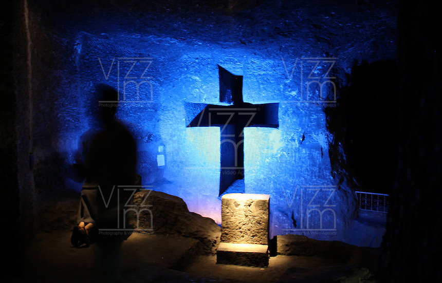 ZIPAQUIRA-COLOMBIA-29-12-2012.Catedral de sal, Zipaquirá,Colombia.Salt Cathedral in Zipaquira,Colombia.Photo: VizzorImage/Felipe Caicedo..
