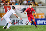 Tan Chun Lok of Hong Kong (R) in action during the International Friendly match between Hong Kong and Jordan at Mongkok Stadium on June 7, 2017 in Hong Kong, China. Photo by Marcio Rodrigo Machado / Power Sport Images